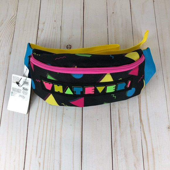 90's Whatever Retro Style Fanny Pack Neon